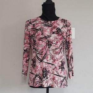 JM Collection Long Sleeve Tunic- Size Medium